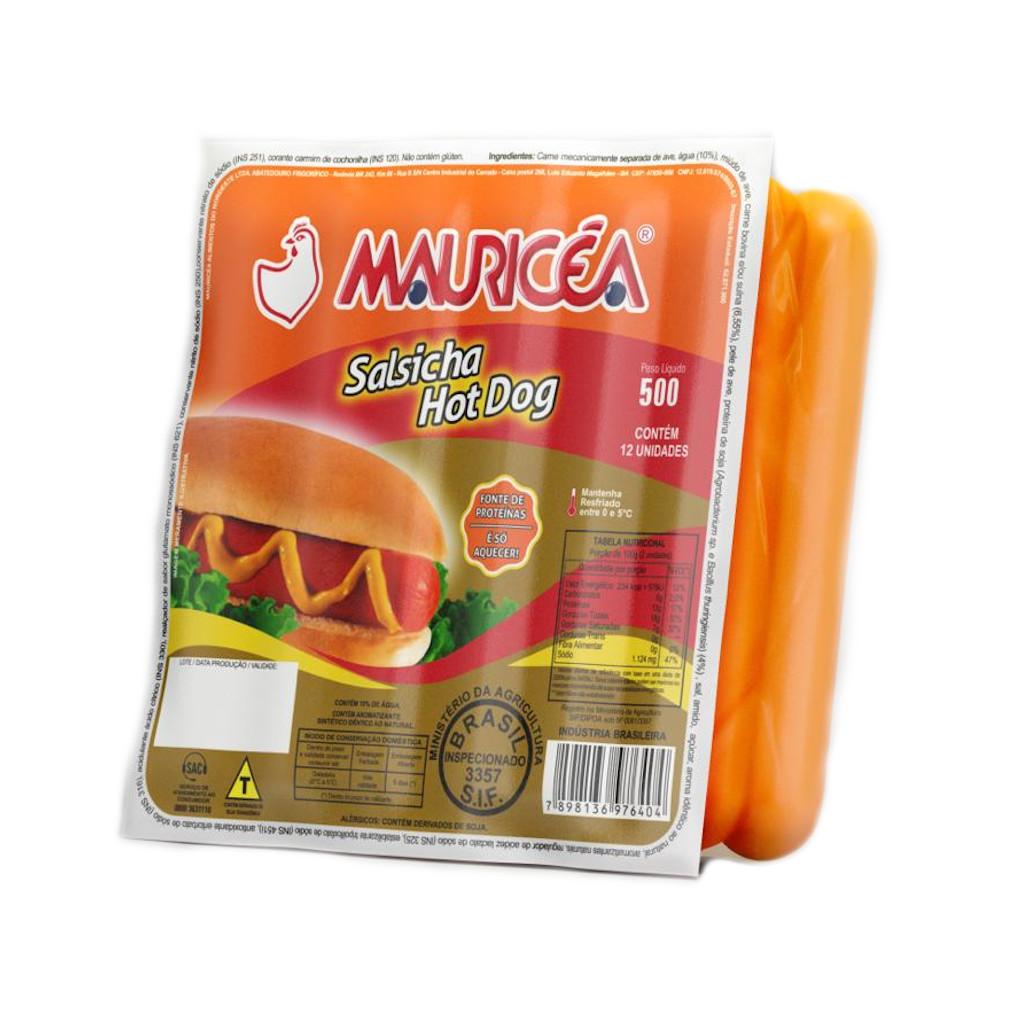 Salsicha Hot Dog 500G Mauricéa