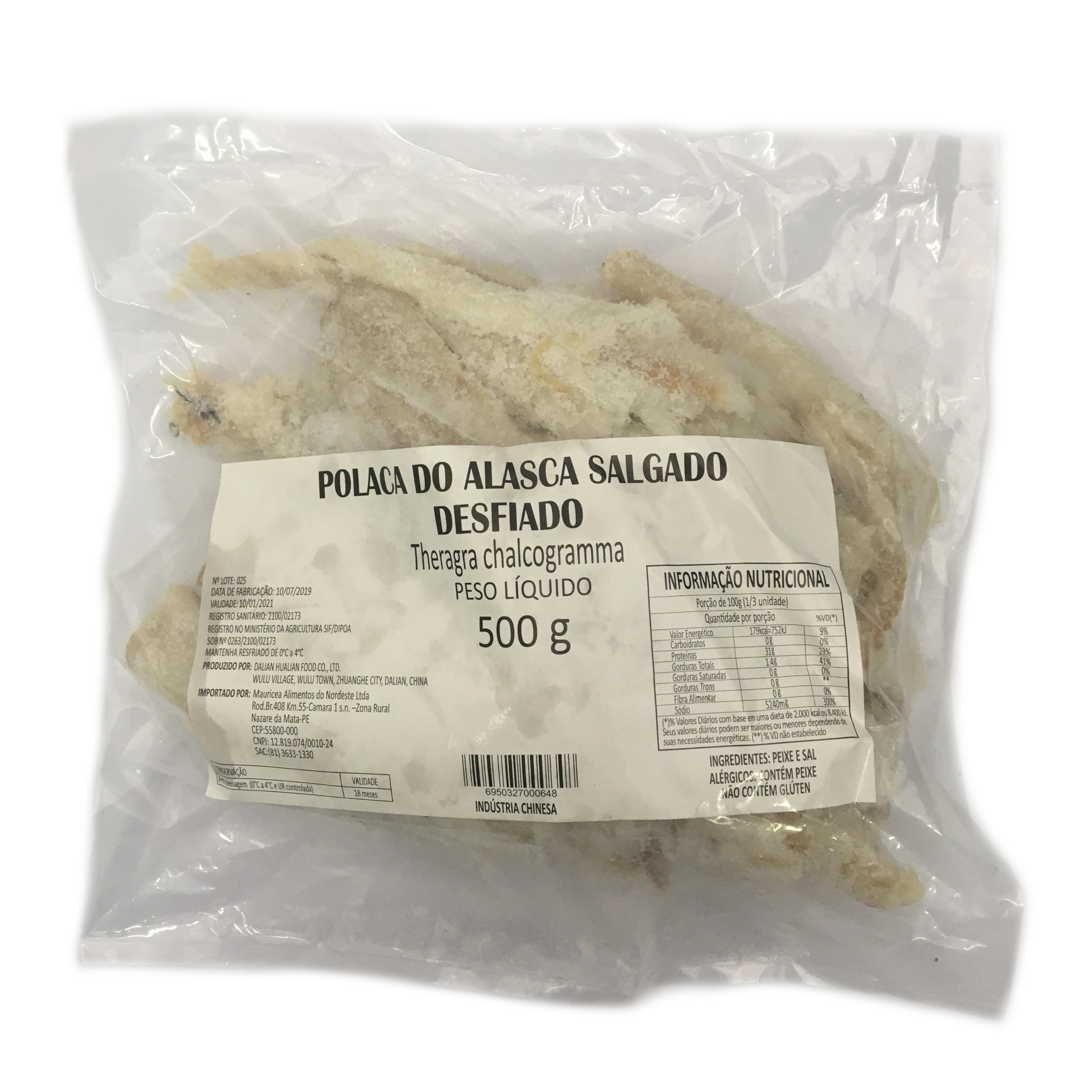 Polaca Peixe Tipo Bacalhau Salgado PAC 500G