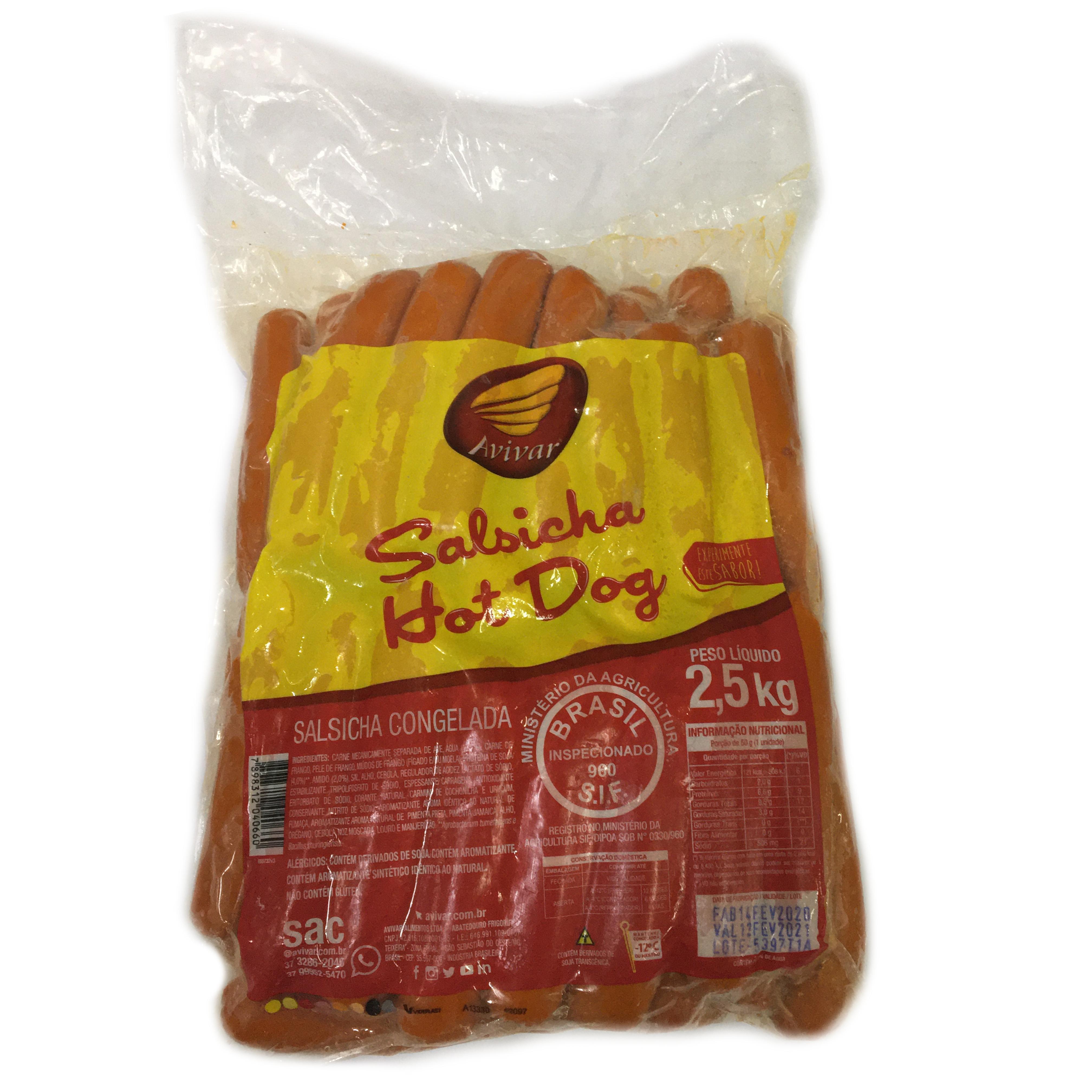 Salsicha Hot Dog Avivar